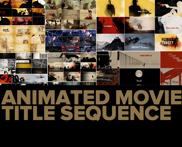 animated movie title sequences