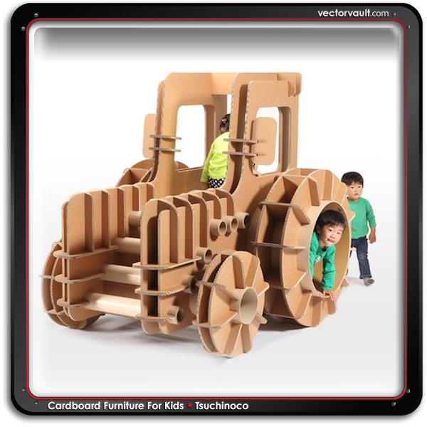Tsuchinoco cardboard furniture for kids