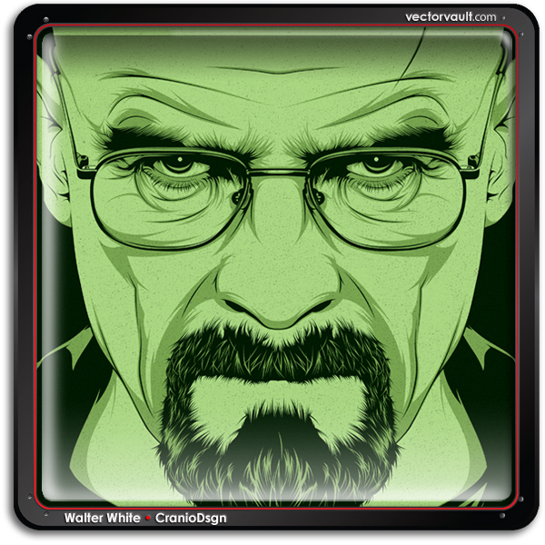 Walter White breaking bad vector illustration
