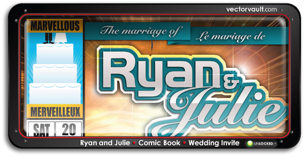 comic book wedding invitation