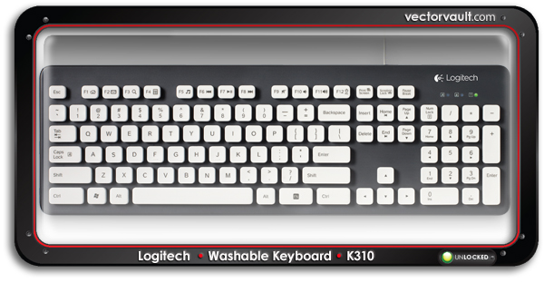 Logitech-Washable-Keyboard-K310-buy-vector-art