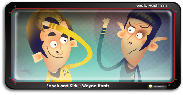 spock-and-kirk-search-buy-vector-art