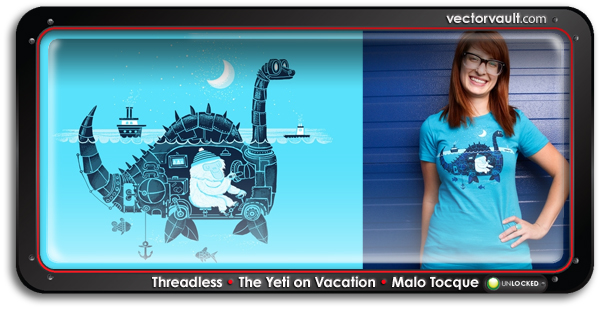 treadless The Yeti on Vacationby Malo Tocquer