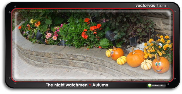 jack-o-lantern-pumpkin-garden-halloween,-autumn-arlene-dickinson-vector-art-entrepreneurs-buy-vector-art