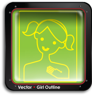 buy-vector-girl-outline-buy-search-vectors