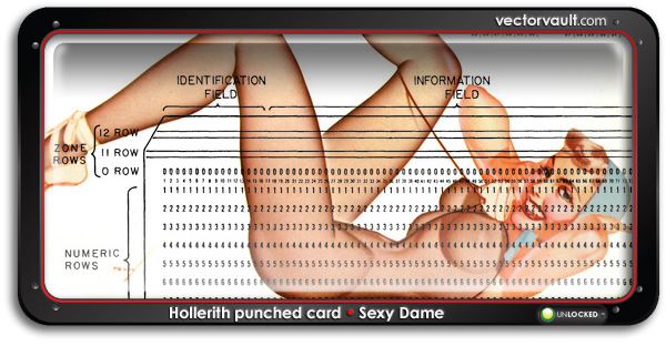 ibm-Hollerith-punched-card-search-buy-vector-art
