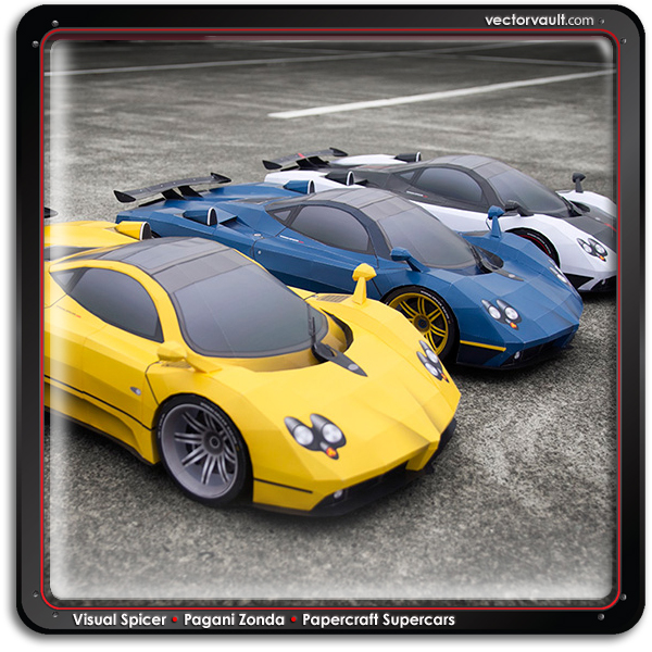 buy vector papercraft race car