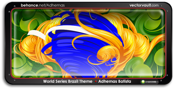 world-series-brazil-theme-search-buy-vector-art