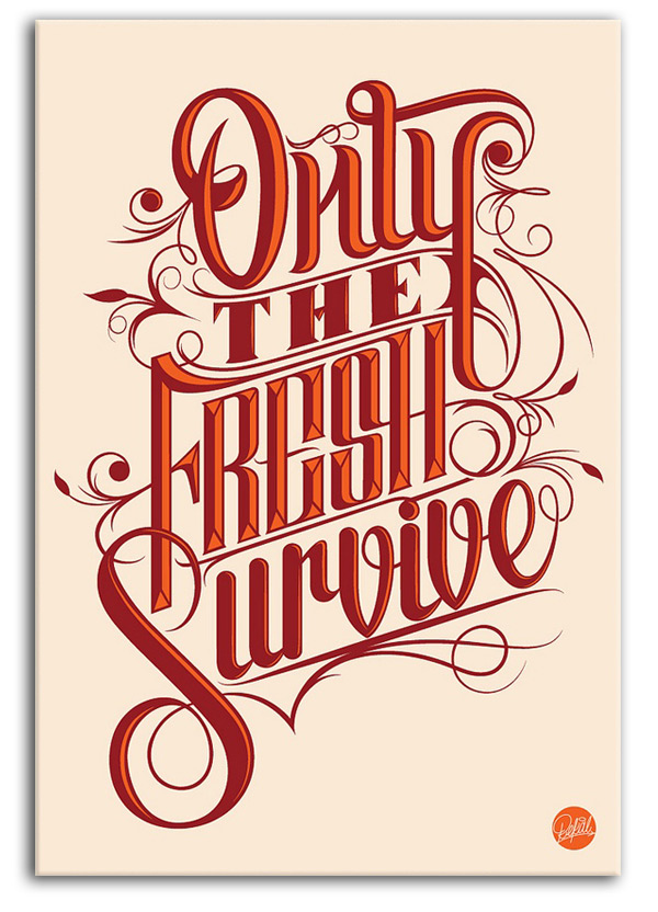 buy-poster-only-the-fresh_survive-vector-poster-vectorvault