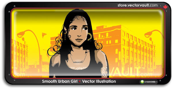 smooth-urban-girl-vector-portrait-no-credits-required--search-buy-vector-art
