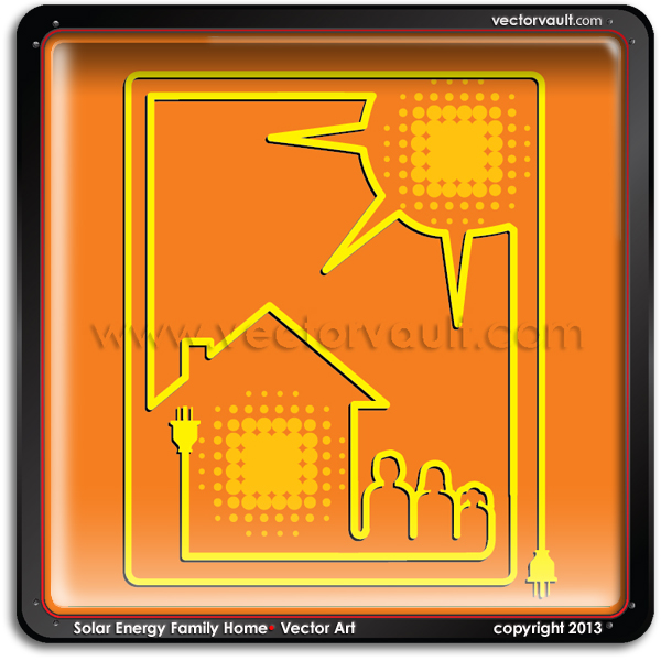 buy-vector-Solar-Energy-Family-Home-search-vector-free-vector