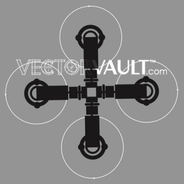 image free vector logo graphic robotic cross