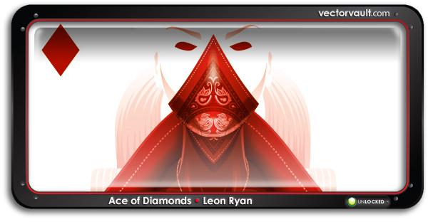 leaon-ryan-ace-diamonds-search-buy-vector-art