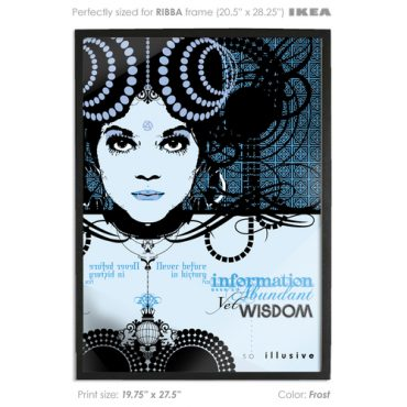 buy vector print poster printed digital art blue color