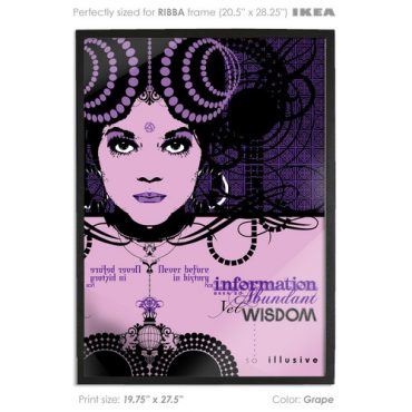 buy vector print poster printed digital art purple color