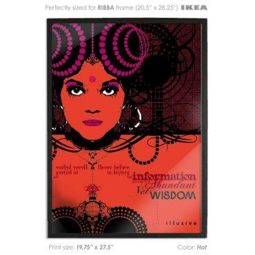 buy vector print poster printed digital art red color