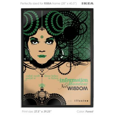 buy vector print poster printed digital art forest green color