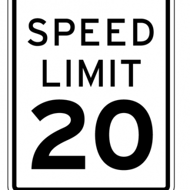 vector speed limit road sign