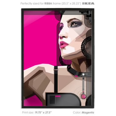 MAGENTA. Indeed Vector Art Print