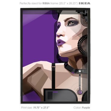 PURPLE. Indeed Vector Art Print