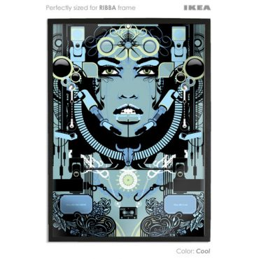 cool coloured art print sized to fit ikea ribba frame buy vector digital art print poster