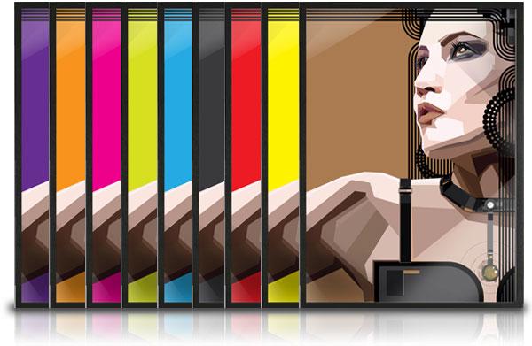 customize colour prints for ikea ribba frame