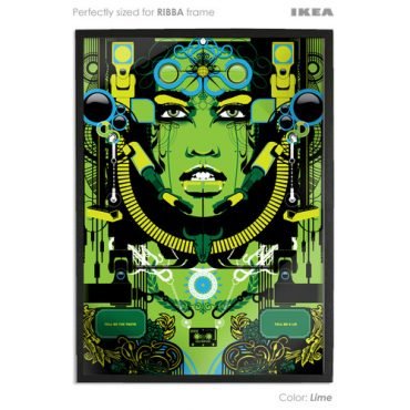 lime coloured art print sized to fit ikea ribba frame buy vector digital art print poster