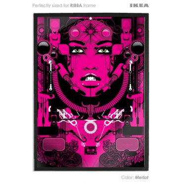 merlot coloured art print sized to fit ikea ribba frame buy vector digital art print poster