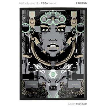 platinum coloured art print sized to fit ikea ribba frame buy vector digital art print poster