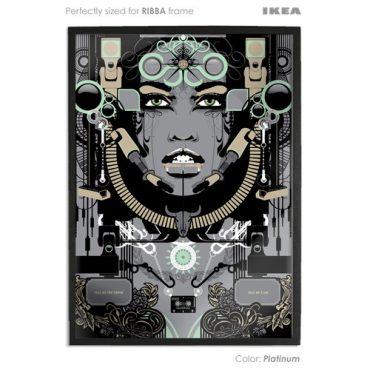 platinum coloured art print sized to fit ikea ribba frame buy vector digital art print poster