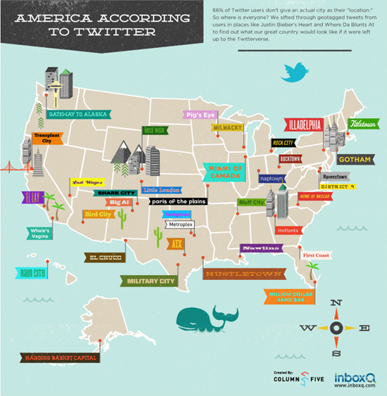 American City Names According To Twitter