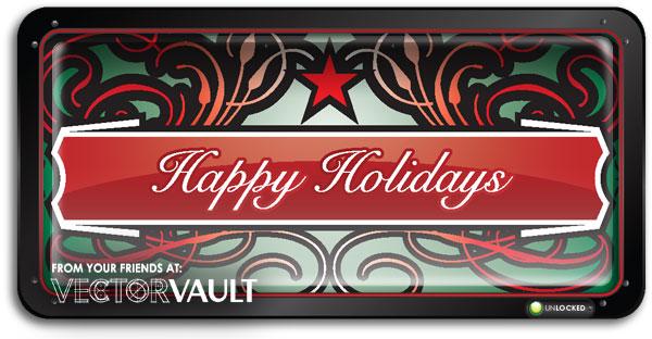 Christmas vectors holiday vector art packs