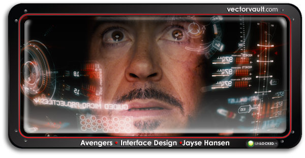 The Avengers interface design by Jayse Hansen