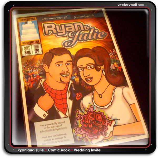 comic book wedding invitation