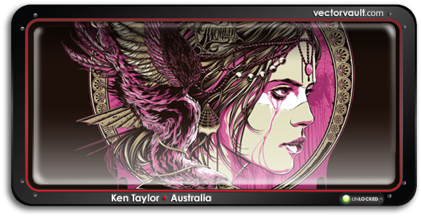 ken-taylor-illustrator-australia-Any Forty x T-world