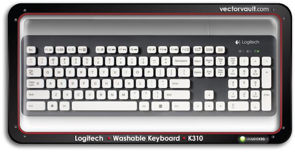 Logitech-Washable-Keyboard-K310-buy-vector-art