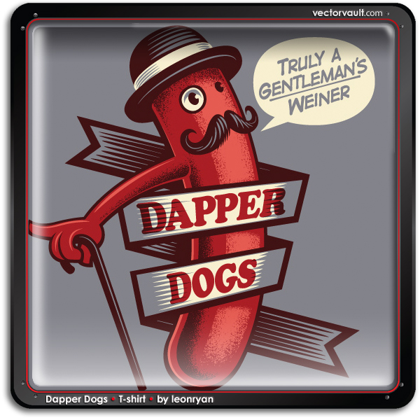 dapper-dogs-t-shirt-leonryan-vector-art-buy-search-vectors
