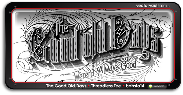 good-old-days threadless loves vintage t-shirt