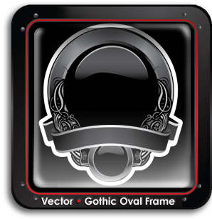 buy-vector-gothic-oval-frame-search-vectors