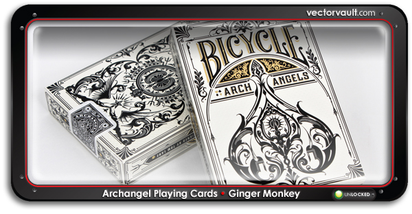 Archangel-bicycle-Playing-Cards-Ginger-Monkey-search-buy-vector-art