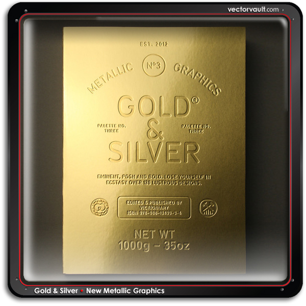 Gold & Silver book New Metallic Graphics