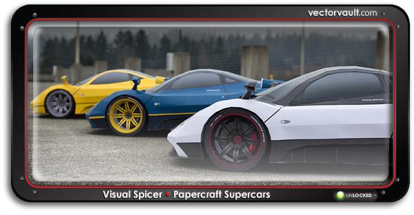 buy papercraft Pagani Zonda race car