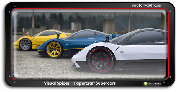 Papercraft Pagani Zonda Supercars by VisualSpicer (VIDEO)