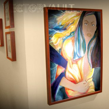This piece of art looks amazing in a Ribba frame from IKEA.