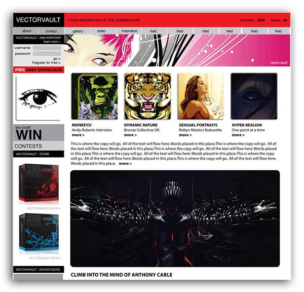 vectorvault-conceptual-web-design