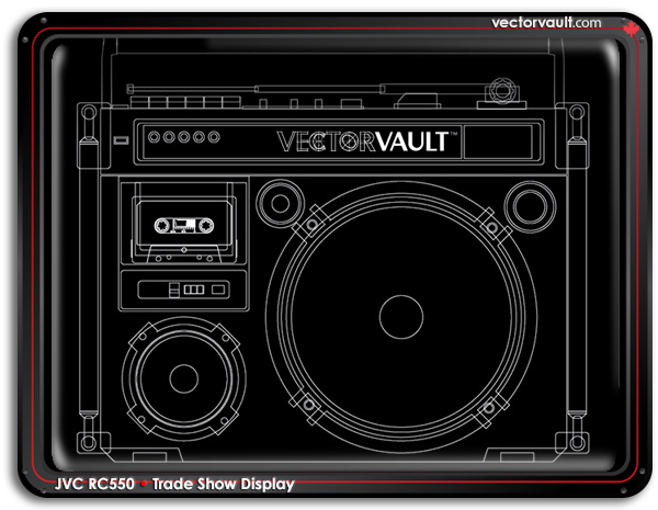 line-art-radio-vectorvault-adamjarvis-mississauga-custom-art-blog