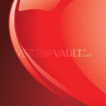 Buy Vector Glossy tilted red heart illustration royalty-free vectors curved edges