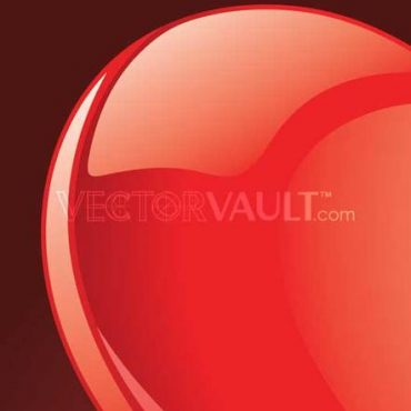 Buy Vector Glossy tilted red heart illustration royalty-free vectors top left