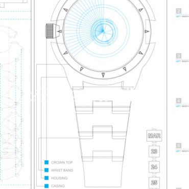 Vector Wristwatch Schematic