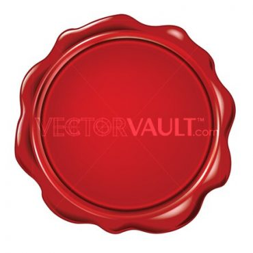 buy vector red melted wax stamp seal